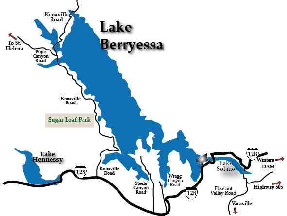 Lake Berryessa Map