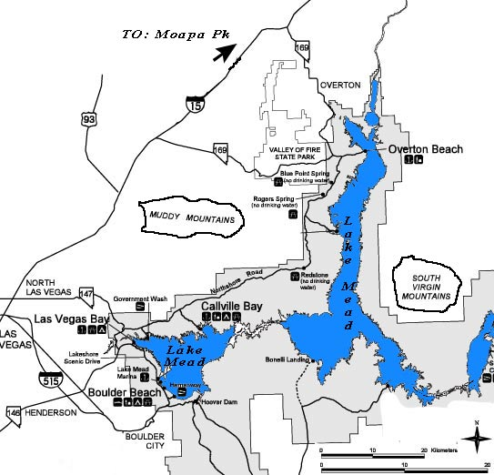 Official Lake Mead Map